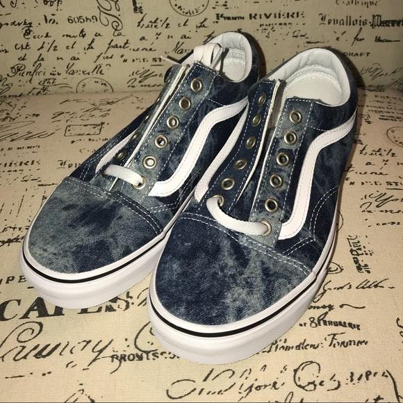 f1ab93078a Vans Old Skool Skate Shoe acid denim NWOB 7.5. M 5adbf79ed39ca2043432e7b8